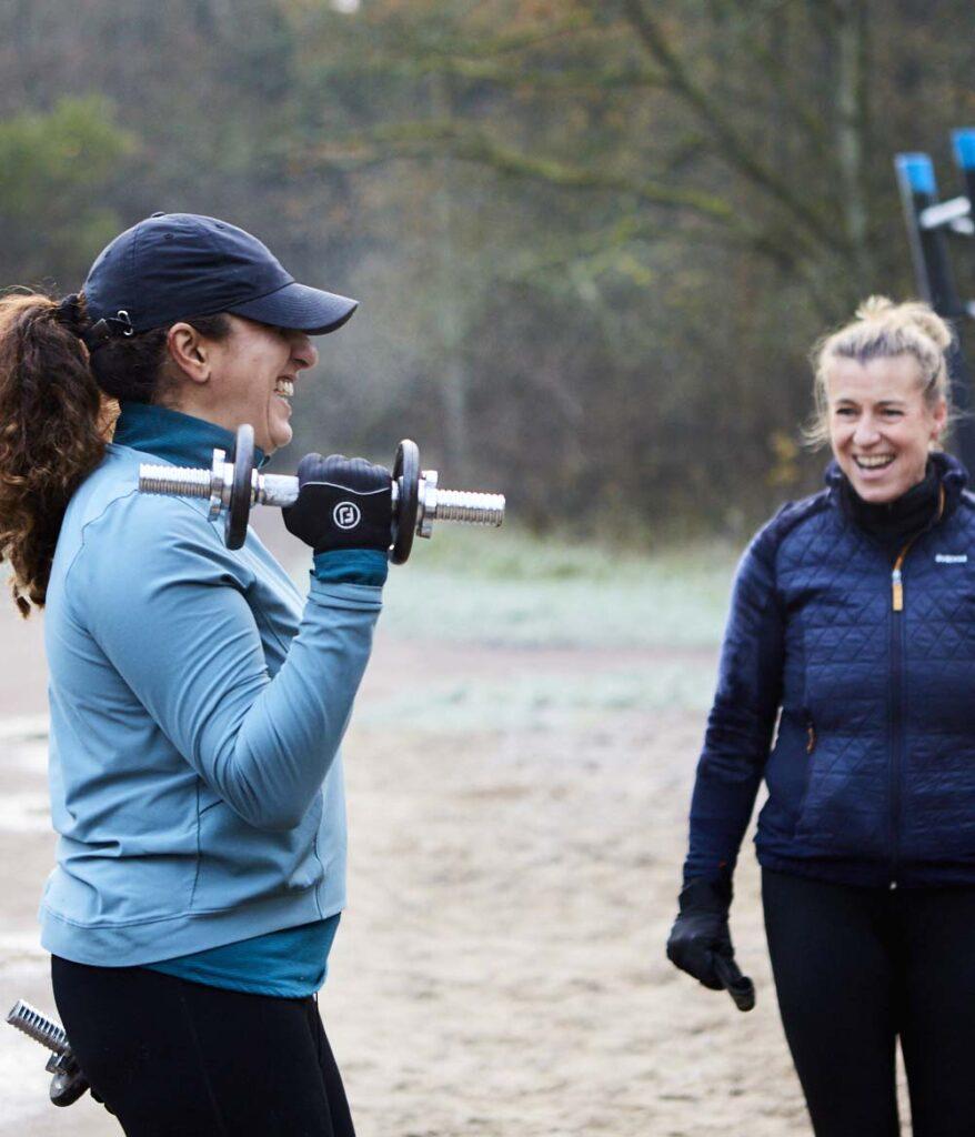 trainen met plezier, personal training en fun